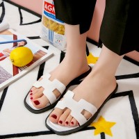 Hollow Cuts Fancy Flat Wear Casual Sandals - White