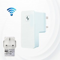 High Range Wireless Wifi Repeater Extender - White