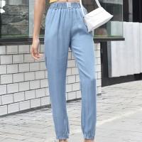 Waist Elastic Narrow Bottom Fashion Trouser - Blue