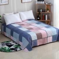 Square Prints Multicolor Cotton Bed Sheets