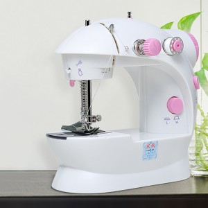 High Quality Plastic Easy Adjustable Mini Sewing Machine - Pink
