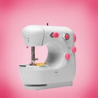 Handheld Easy Automatic Stitching Mini Sewing Machine - Pink