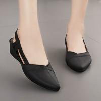 Pointed Slip Over Formal Wear Women Sandals - Black