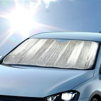 Good Quality Universal Car Protector Windshield Sun Shade - Silver