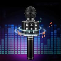 Wireless Karaoke Handheld Microphone Bluetooth Speaker - Multicolors