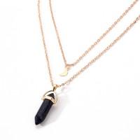 Woman Bullet Pendant Necklace - Black