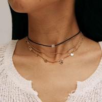 Ladies Fashion Star Necklace - Golden
