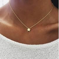 Woman Creative Retro Star Necklace - Golden