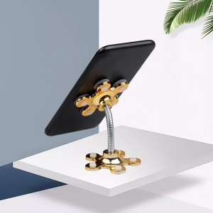 Magic Suction Rotatable Mobile Phone Holder - Yellow