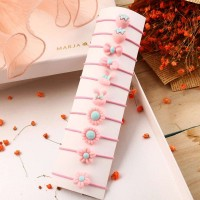 10 Pieces Of Simple Children Flower Hair Rope - Pink
