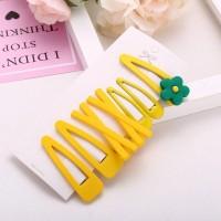 Kids Sweet Flower Hairpin 7 Pieces Set - Yellow