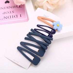 Kids Sweet Flower Hairpin 7 Pieces Set - Navy Blue
