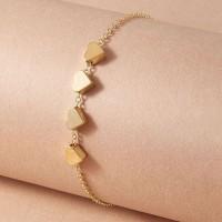 Ladies Simple Heart Bracelet - Golden