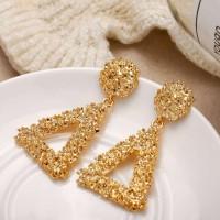 Woman Geometric Shape Earrings - Golden