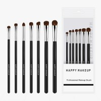 Wooden Handle High Quality Women Makeup Brushes Set - Silver
