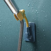 Plastic Easy Moveable Wall Adhesive Shower Holder - Multicolor
