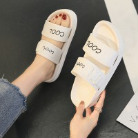 Alphabet Buckle Fashion Breathable Slippers For Women - White