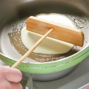 Bamboo Pancake Scraping Tool Cake Scraper