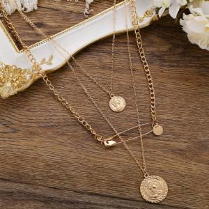 Multilayered Gold Plated Elegant Bohemian Necklace - Golden
