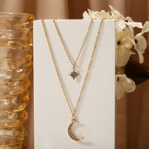 Braided Gold Plated Crystal Women Fashion Pendant