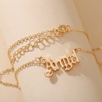 Alphabetic Angel Carved Women Fashion Jewellery Necklace