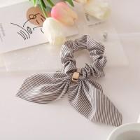 Canvas High Quality Fabric Elastic Hair Bands - Gray