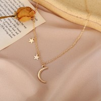 Gold Plated Moon Pendant Fashion Jewellery Necklace