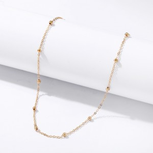 Beads Decorative Gold Plated Women Fashion Jewellery Necklace