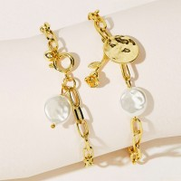 Braid Gold Plated Decorative Women Bracelet