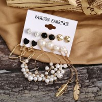 Six Pairs Decorative Bohemian Women Fashion Jewellery Earrings Set