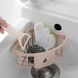 Easy Wall Adhesive Bathroom Essential Corner Rack - Pink