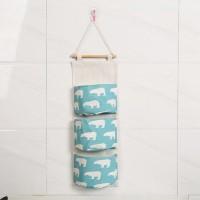 Pocket Easy Wall Hook Storage Hanger - Blue