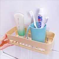 High Quality Plastic Wall Adhesive Bathroom Rack - Yellow