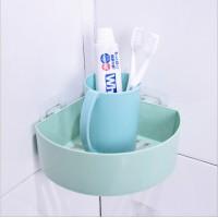 Plastic Adhesive Corner Bathroom Rack - Green