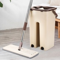 Hand Free Easy Creative All Movements Mop With Washable Basket