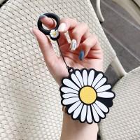 Cute Daisy Flower Case Cover For Earpods Pro - Black White