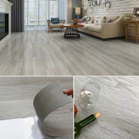 Wooden Textured Fancy Interior Home Deocrative Floor Tiles - Gray