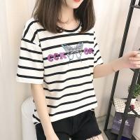 Cute Butterfly Fashion T-Shirts For Women - White