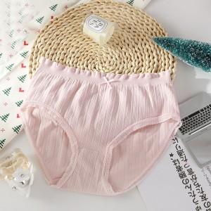 Elastic Laced Up Summer Wear Women Underwear - Pink
