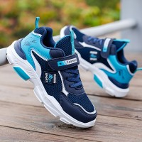 Breathable Rubber Sole Laced Sports Kids Shoes - Blue