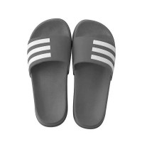 Strip Style Summer Wear Fashion Slippers - Gray