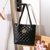Soft Surface Single Strapped Fashion Women Shoulder Bag - Black