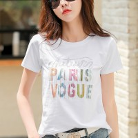 Trendy Printed Design Short Sleeves Casual Wear T-Shirts - White