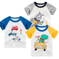 Three Pieces Cartoon Prints Casual Kids T-Shirts Set