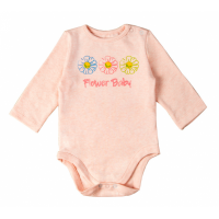 Flower Baby Prints Round Neck Sleeveless Romper - Pink