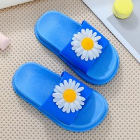 Floral Fashion Soft Bottom Summer Wear Kids Slippers - Blue