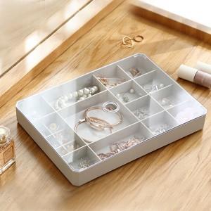 Quality Plastic Compact Designed Jewellery Storage Box - Gray