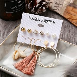 Dangle Style Sea Shell Women Earrings Set - Multi Color