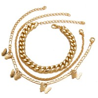 Butterfly Creative Multi Layer Bracelets - Golden