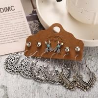 Bohemian Fashion Dangle Beads Earrings For Women - Silver